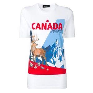Dsquared2 Canada Mountain life white t-shirt